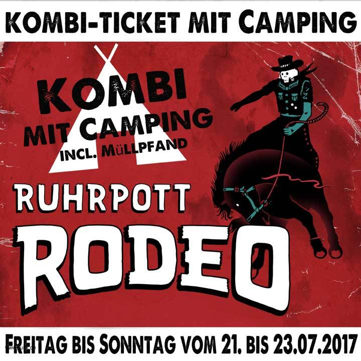 Ruhrpott Rodeo - 3-Tageskarte mit Camping