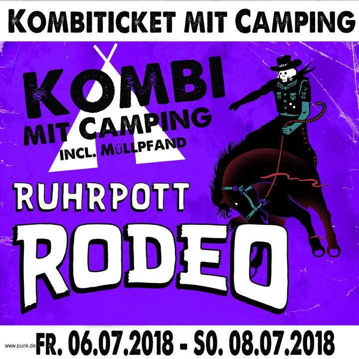 Kombi-Ticket-inkl. Camping Rodeo 2018
